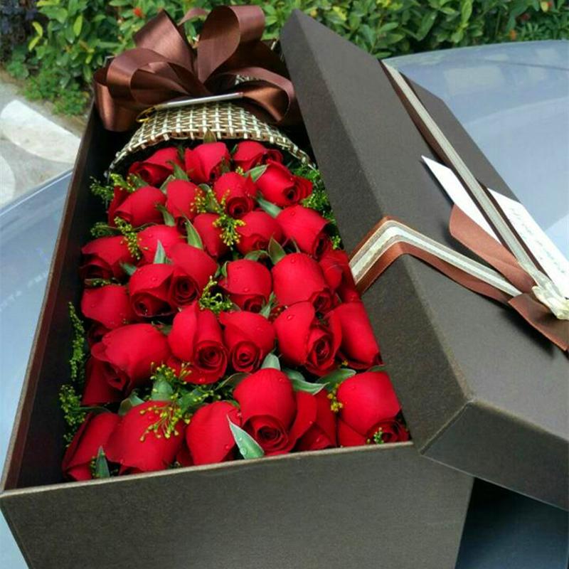 33支红玫瑰花盒